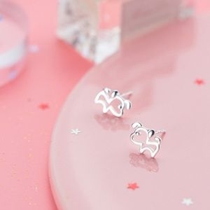 🆕 Sterling Silver Dog Puppy Earrings